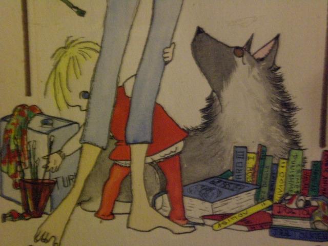 me, the dog, and mom's feet