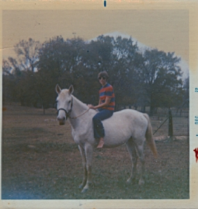 mom on her horse Prince