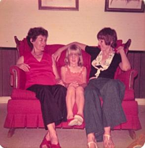 grandma, me, and mom