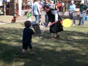 the kiddo battles the big guy