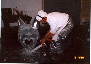 ice carving dad