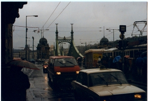 Budapest in the rain