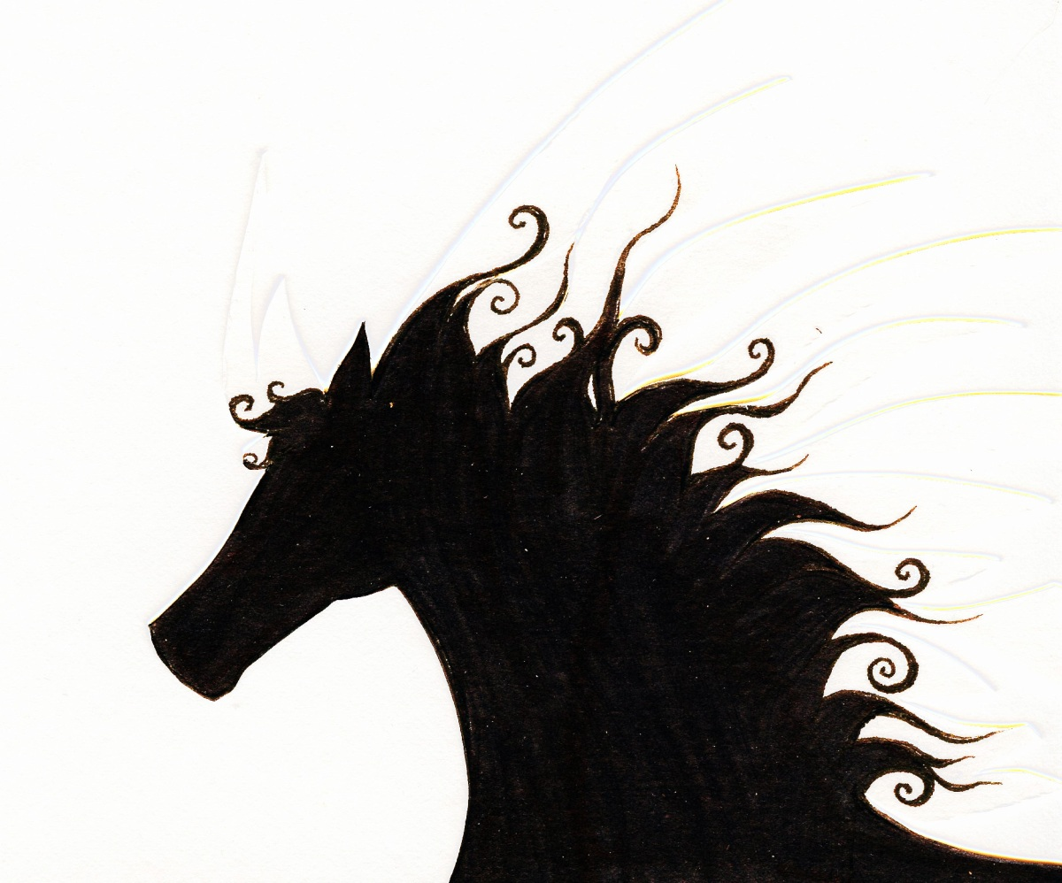 an effort to draw a horse